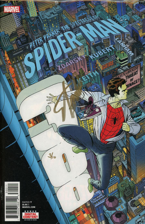 Peter Parker Spectacular Spider-Man #300 Cover J DF Signed By Stan Lee