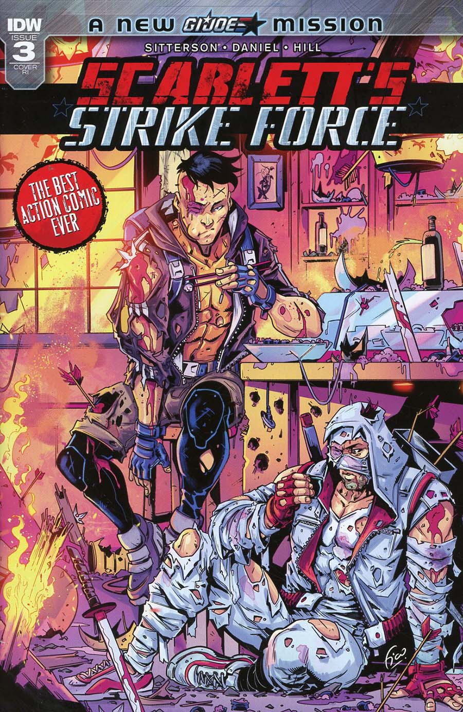 Scarletts Strike Force #3 Cover C Incentive Fico Ossio Variant Cover