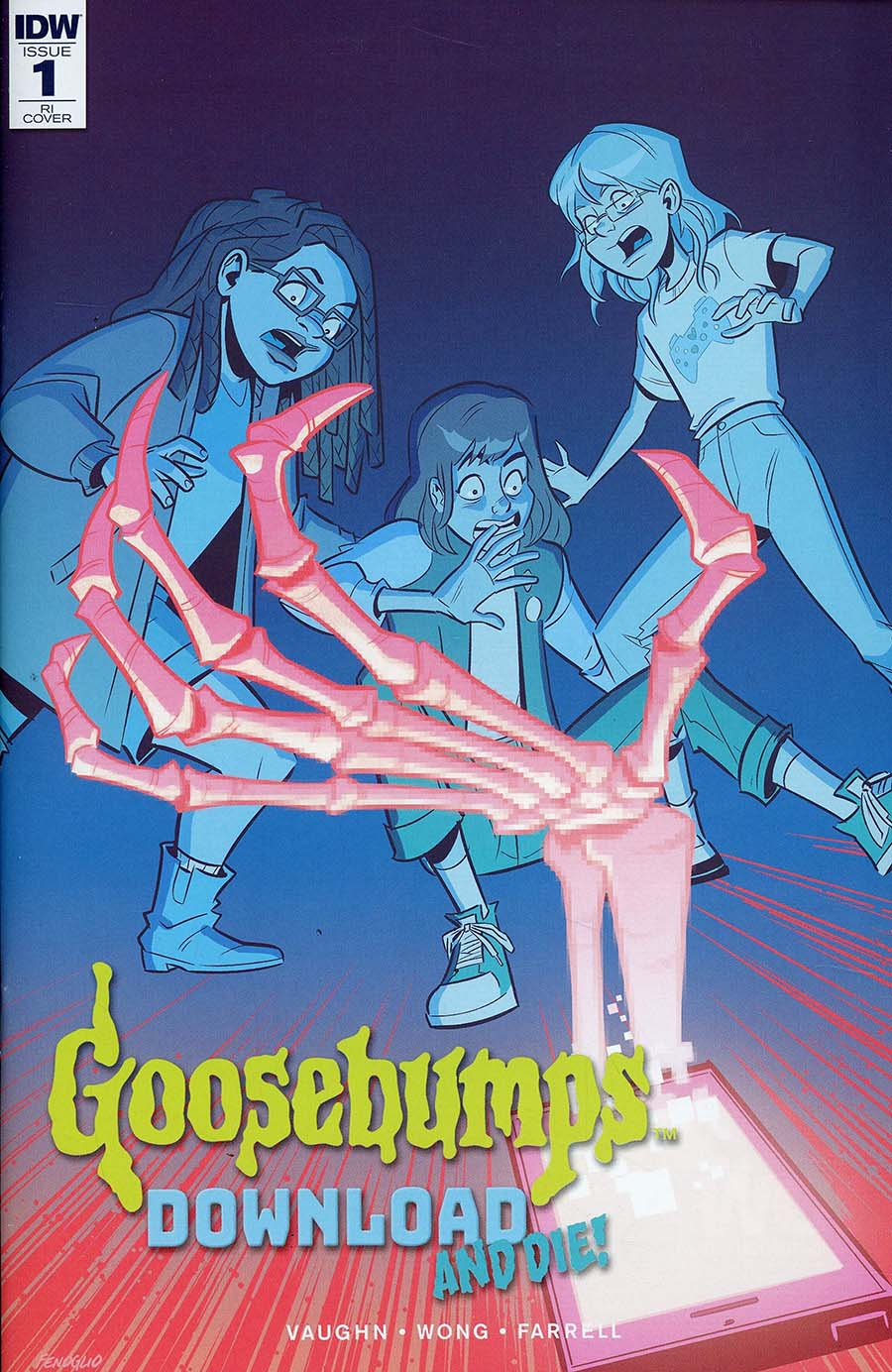 Goosebumps Download And Die #1 Cover C Incentive Chris Fenoglio Variant Cover