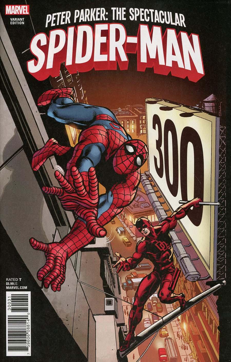 Peter Parker Spectacular Spider-Man #300 Cover G Incentive Frank Miller Remastered Color Variant Cover (Marvel Legacy Tie-In)