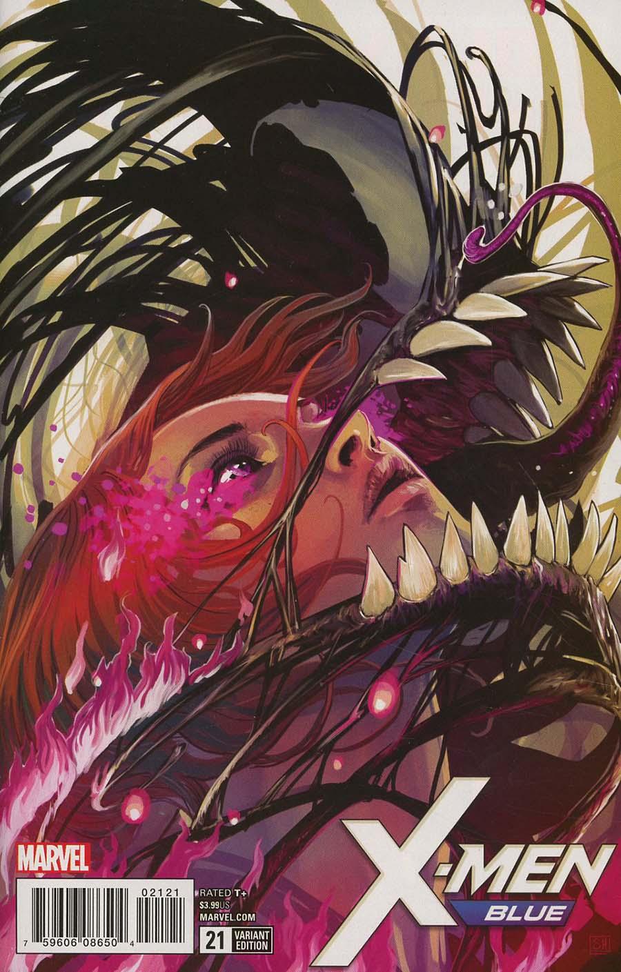 X-Men Blue #21 Cover C Incentive Stephanie Hans Poison X Variant Cover (Poison X Part 2)(Marvel Legacy Tie-In)