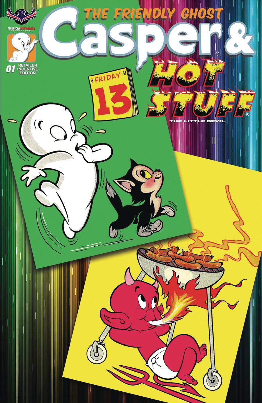 Casper And Hot Stuff #1 Cover D Incentive Retro Animation Variant Cover