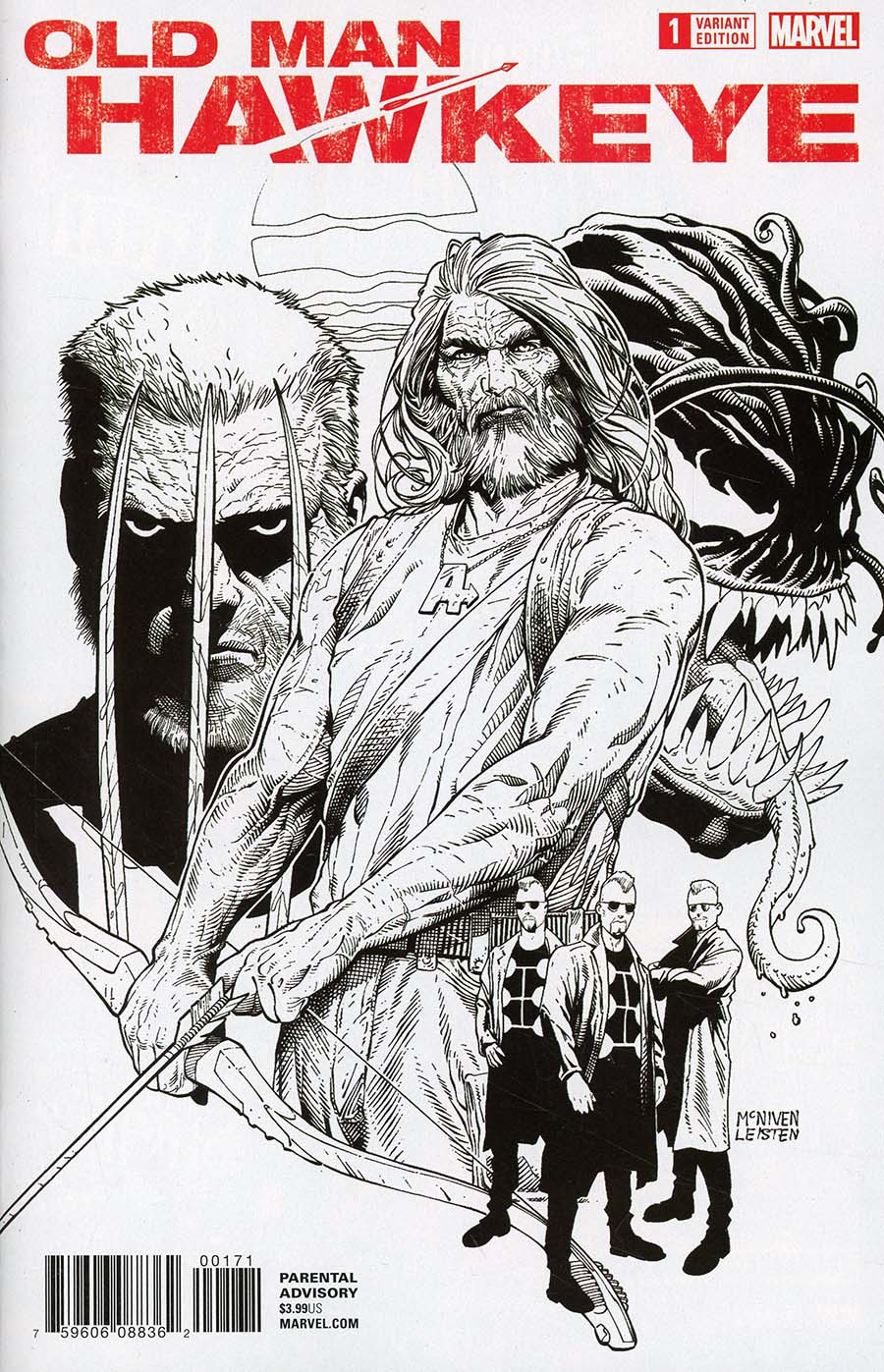 Old Man Hawkeye #1 Cover G Incentive Steve McNiven Sketch Variant Cover (Marvel Legacy Tie-In)