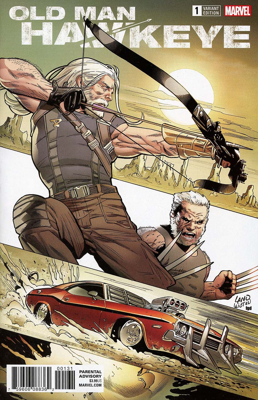 Old Man Hawkeye #1 Cover E Incentive Greg Land Variant Cover (Marvel Legacy Tie-In)