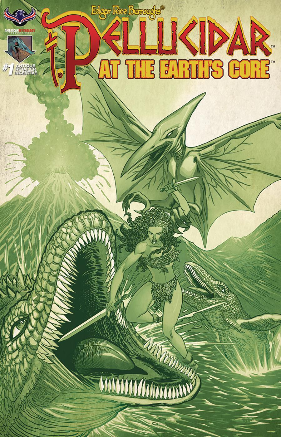 Pellucidar At The Earths Core #1 Cover C Incentive Prehistoric Variant Cover