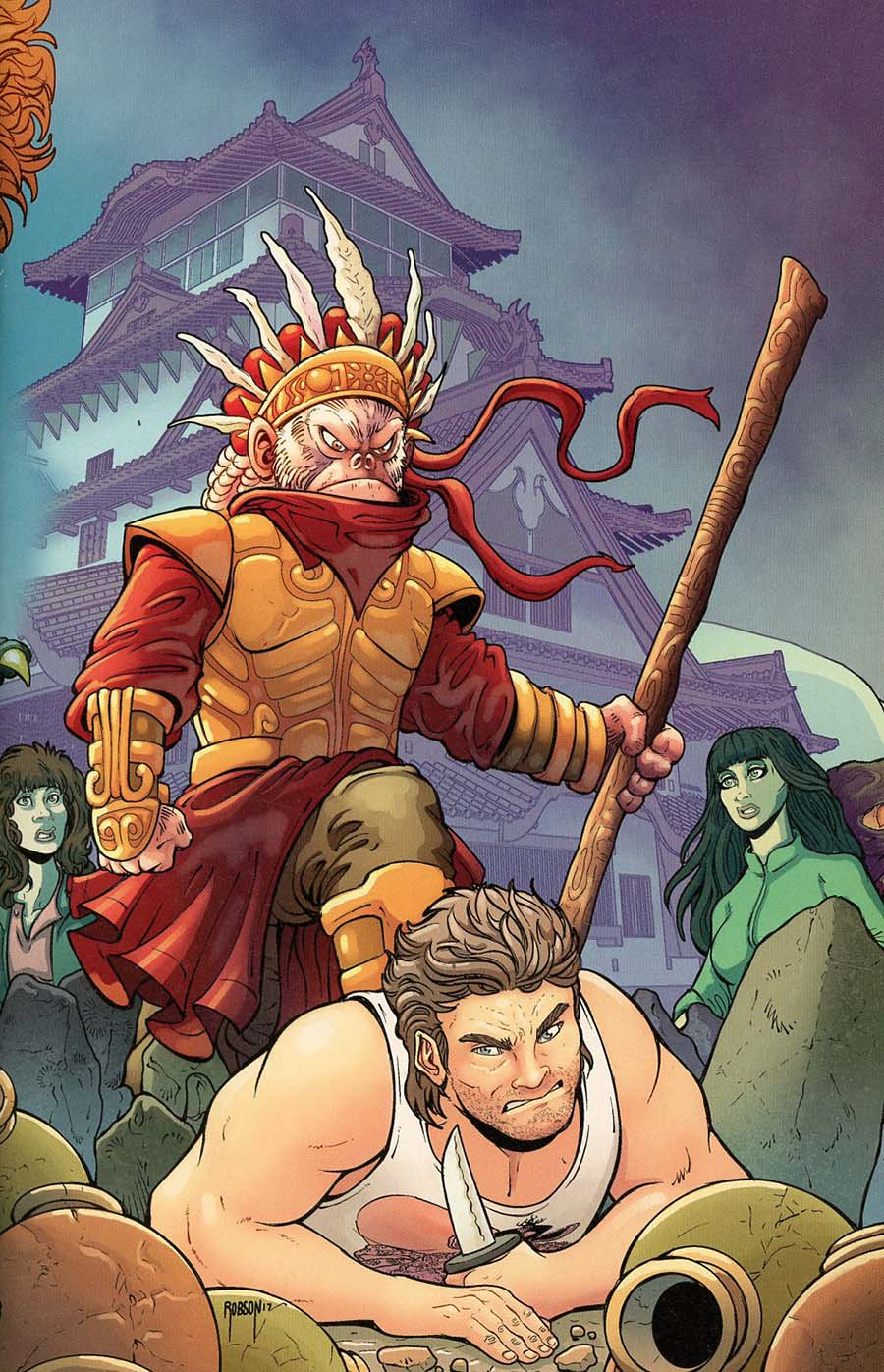 Big Trouble In Little China Old Man Jack #5 Cover C Incentive Will Robson Connecting Virgin Variant Cover