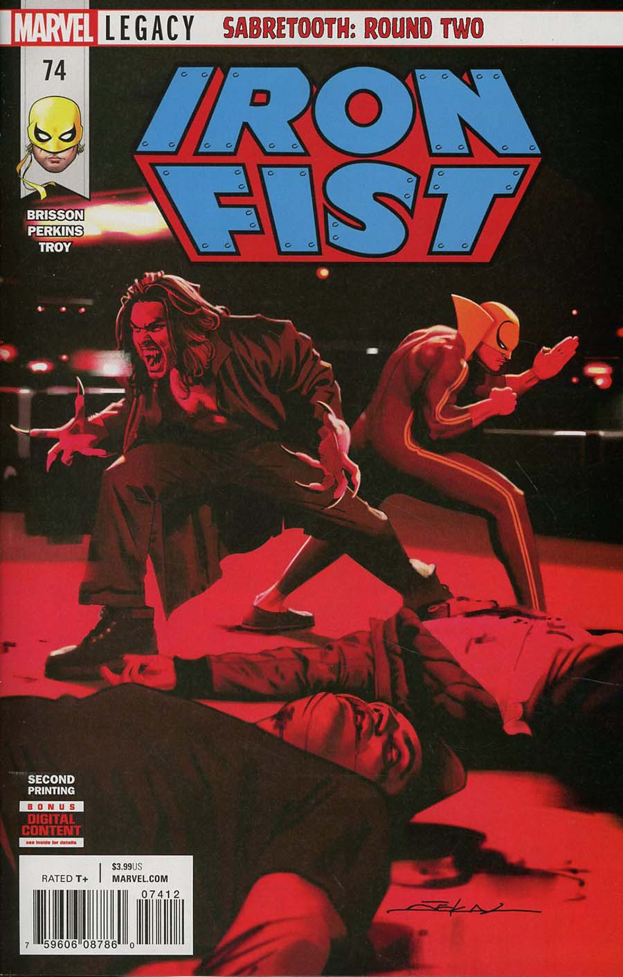 Iron Fist Vol 5 #74 Cover B 2nd Ptg Variant Jeff Dekal Cover (Marvel Legacy Tie-In)