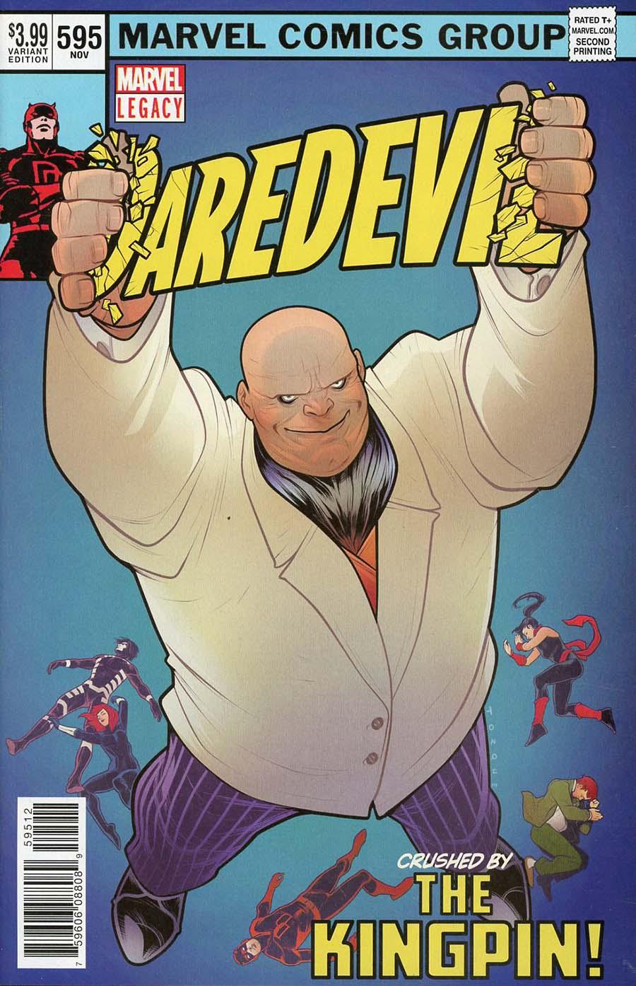 Daredevil Vol 5 #595 Cover H 2nd Ptg Torque Variant Elizabeth Torque Cover (Marvel Legacy Tie-In)