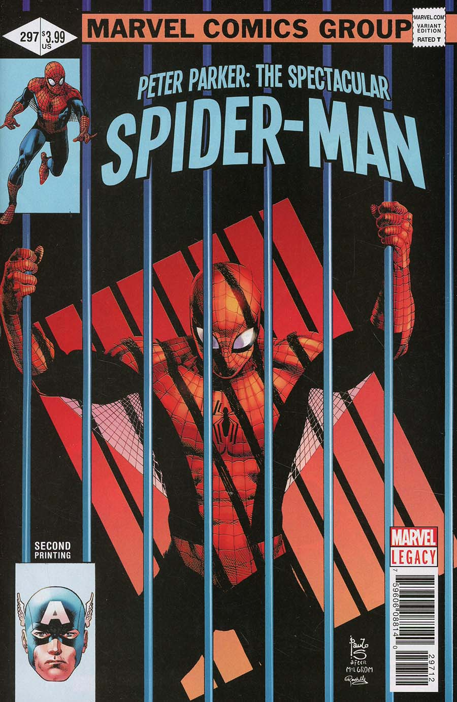Peter Parker Spectacular Spider-Man #297 Cover E 2nd Ptg Variant Paulo Siqueira Cover (Marvel Legacy Tie-In)