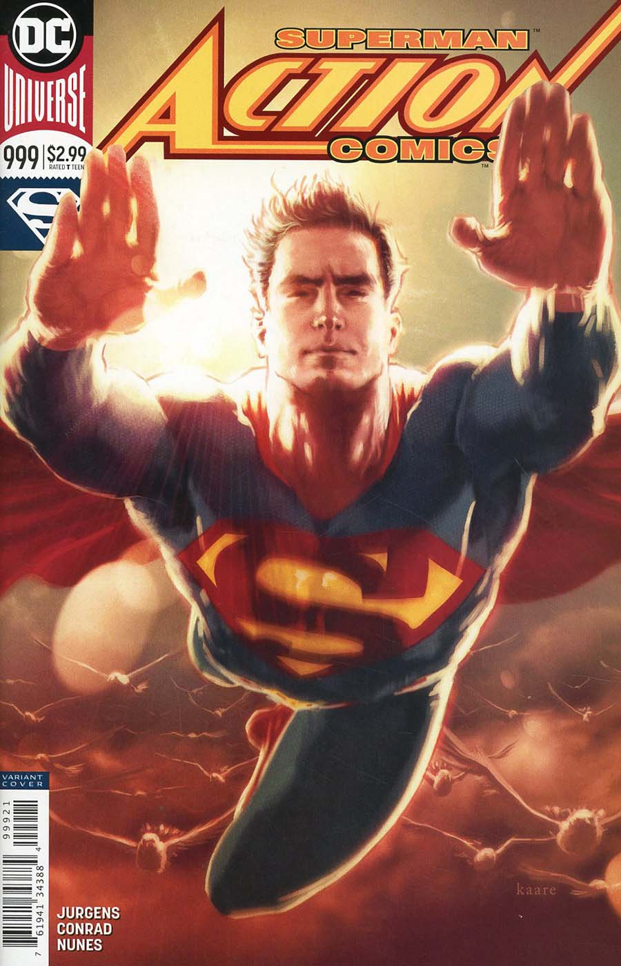 Action Comics Vol 2 #999 Cover B Variant Kaare Andrews Cover