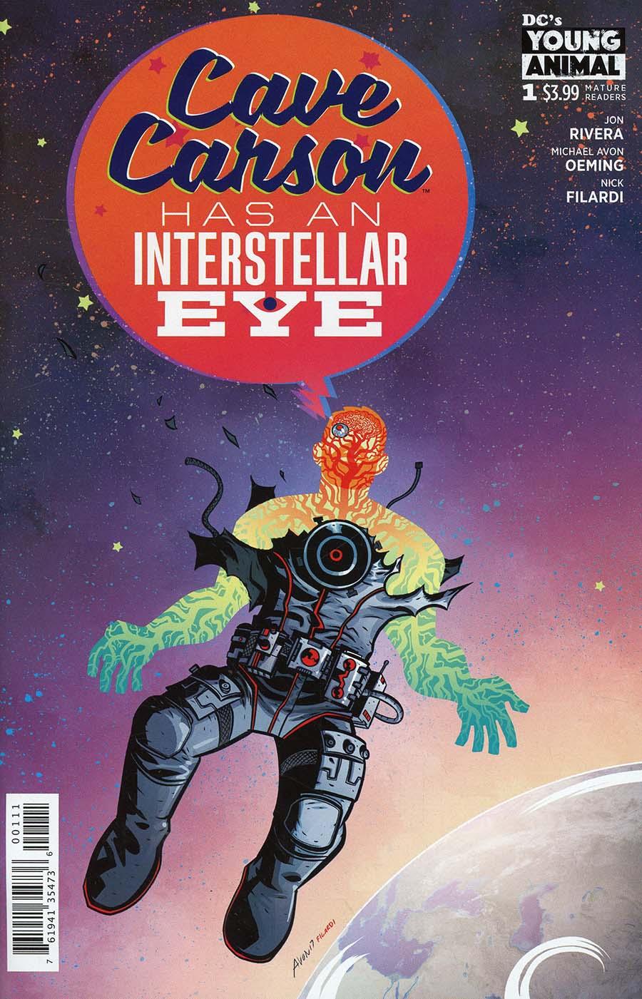Cave Carson Has An Interstellar Eye #1 Cover A Regular Michael Avon Oeming Cover