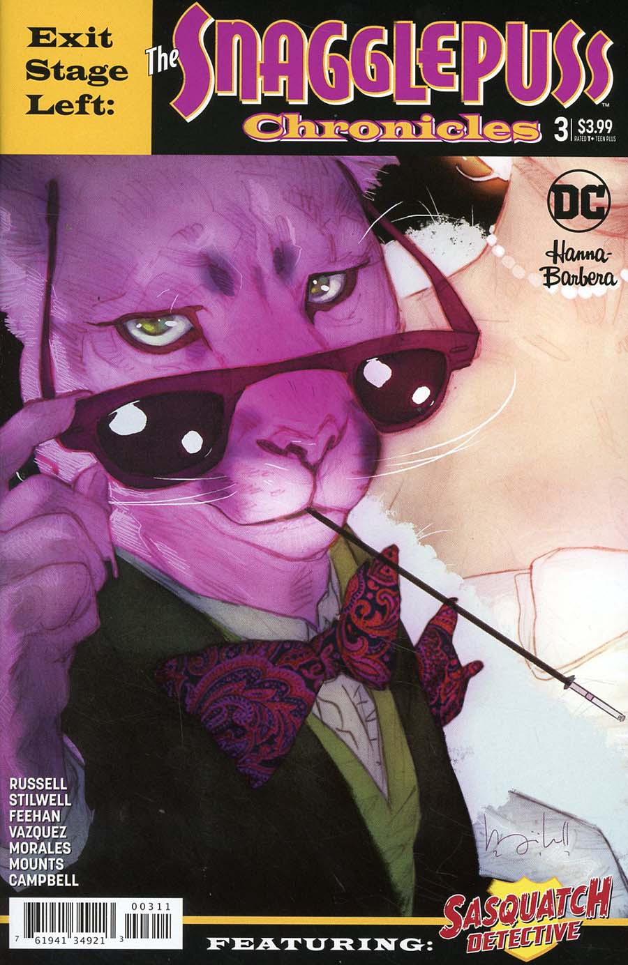 Exit Stage Left The Snagglepuss Chronicles #3 Cover A Regular Ben Caldwell Cover
