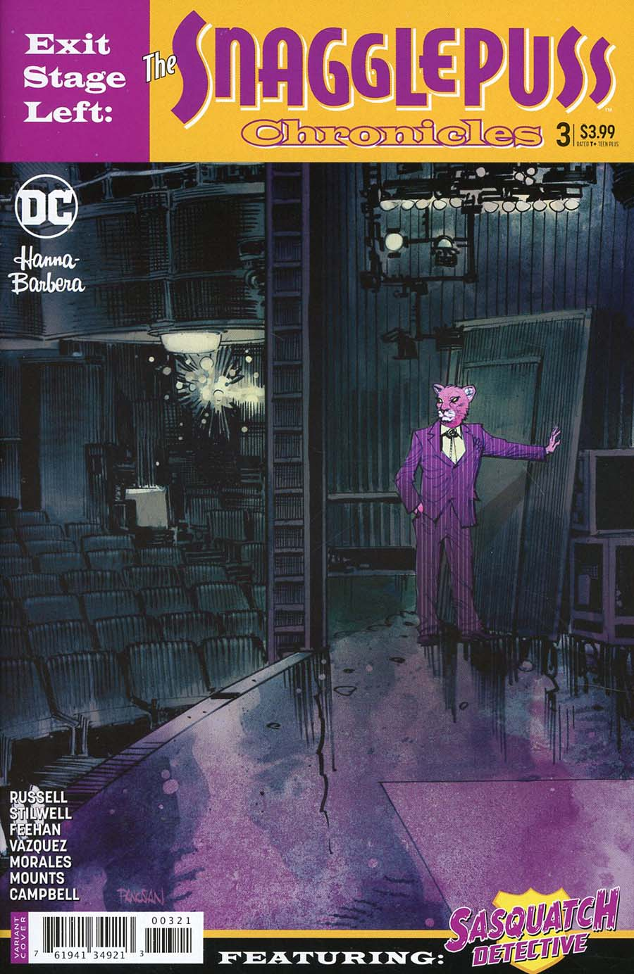 Exit Stage Left The Snagglepuss Chronicles #3 Cover B Variant Dan Panosian Cover