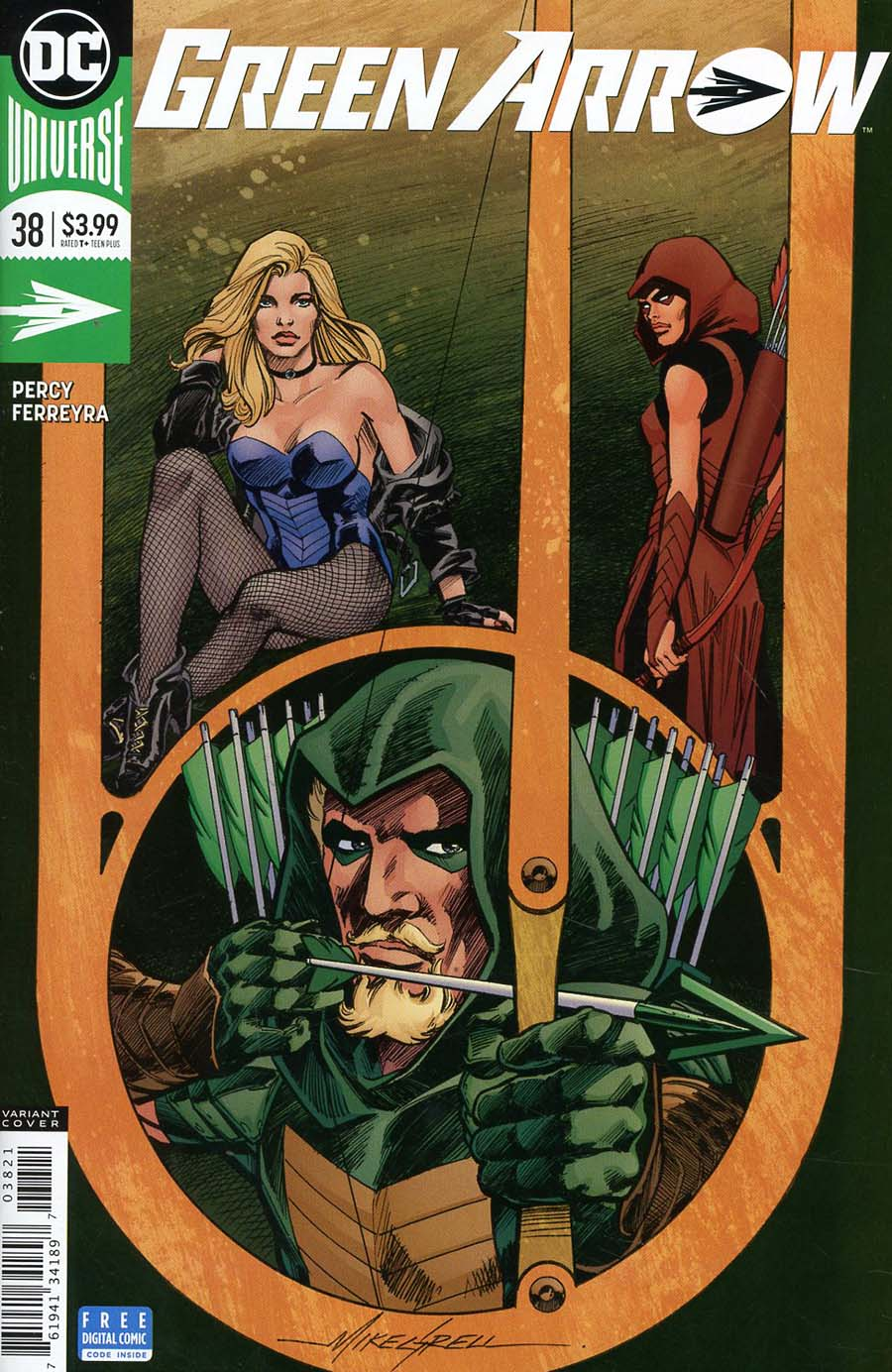 Green Arrow Vol 7 #38 Cover B Variant Mike Grell Cover