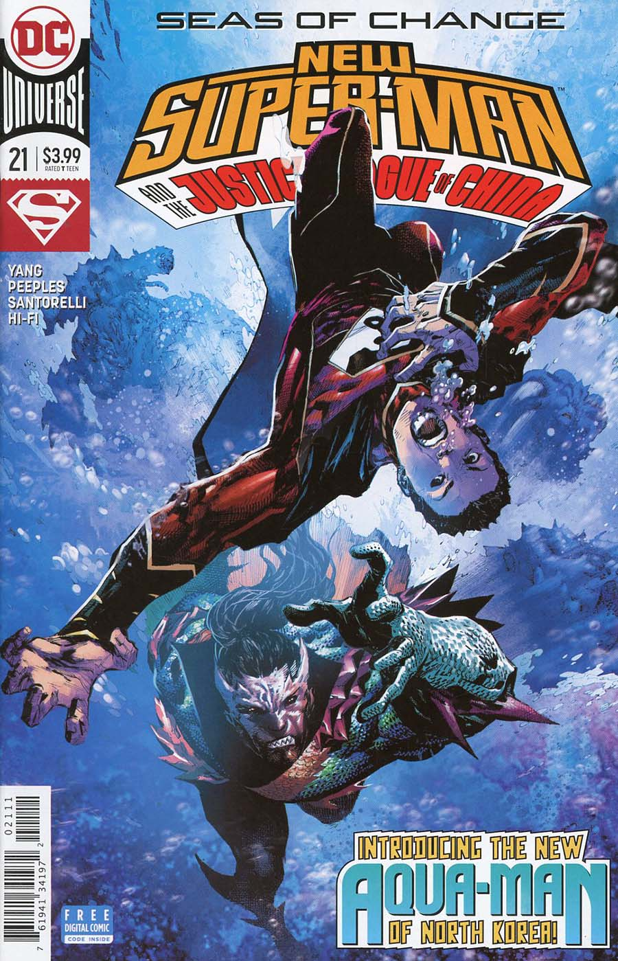 New Super-Man And The Justice League Of China #21 Cover A Regular Philip Tan Cover