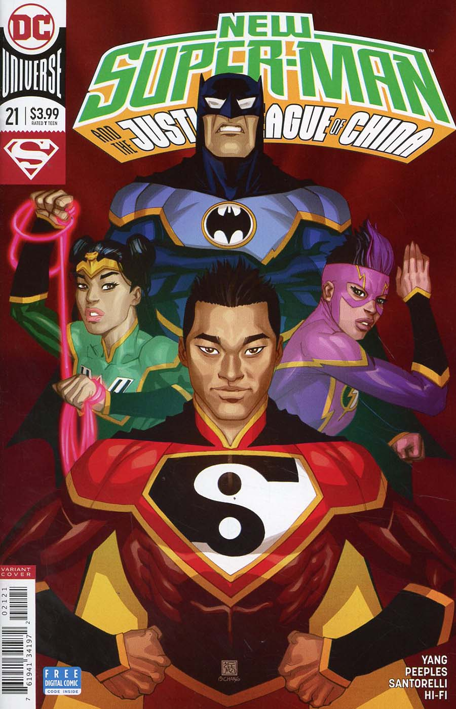 New Super-Man And The Justice League Of China #21 Cover B Variant Bernard Chang Cover