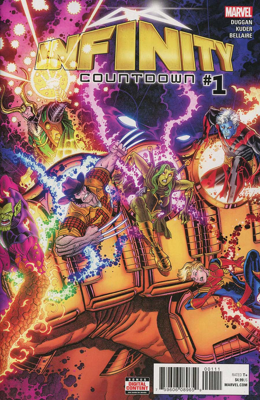 Infinity Countdown #1 Cover A 1st Ptg Regular Nick Bradshaw Cover (Marvel Legacy Tie-In)