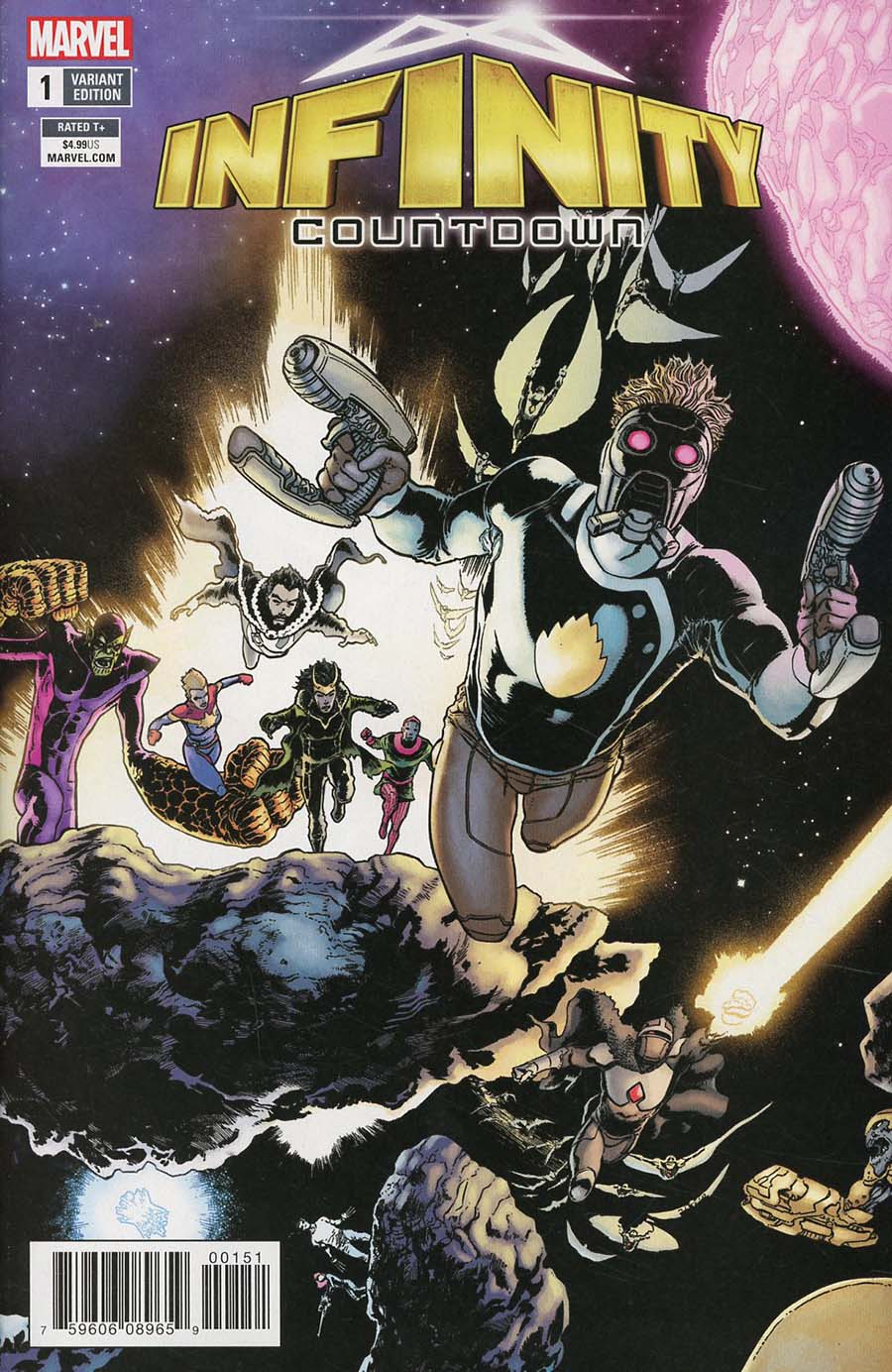 Infinity Countdown #1 Cover B Variant Aaron Kuder Connecting Cover (1 Of 5)(Marvel Legacy Tie-In)