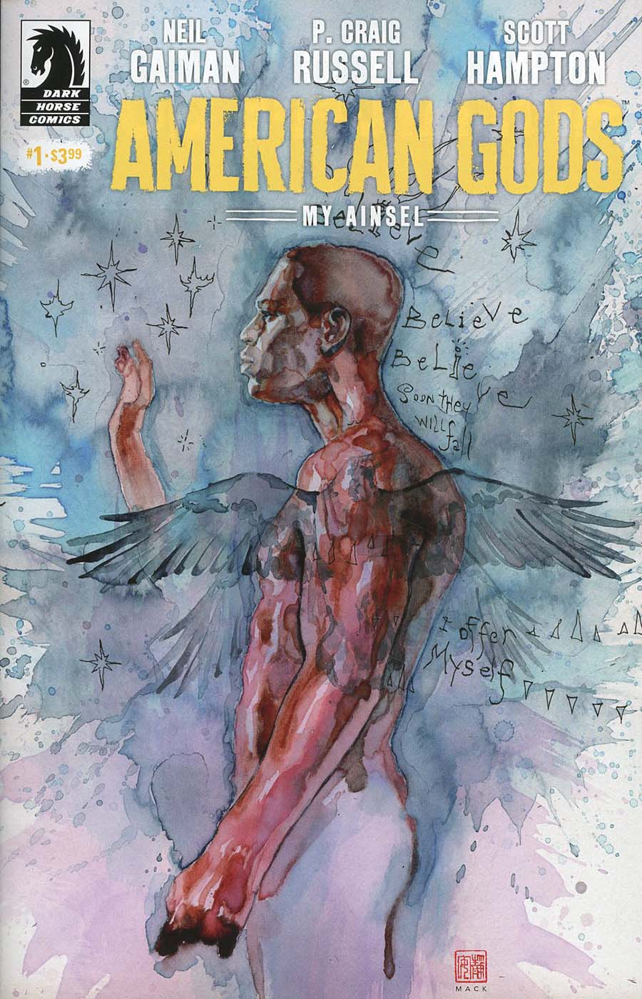 American Gods My Ainsel #1 Cover B Variant David Mack Cover