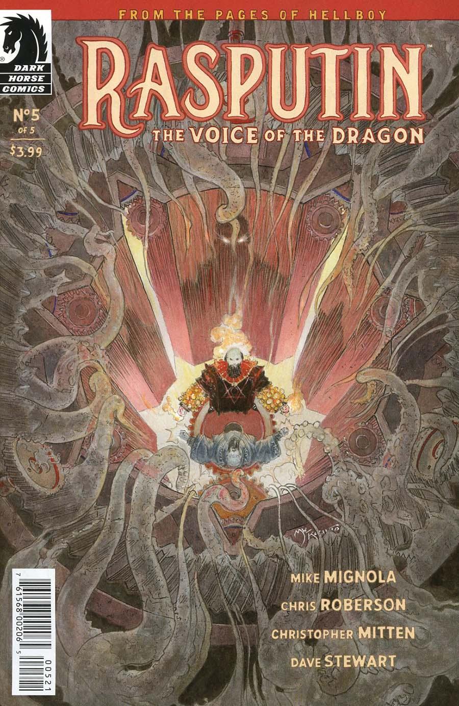 Rasputin Voice Of The Dragon #5 Cover B Variant Michael William Kaluta Cover