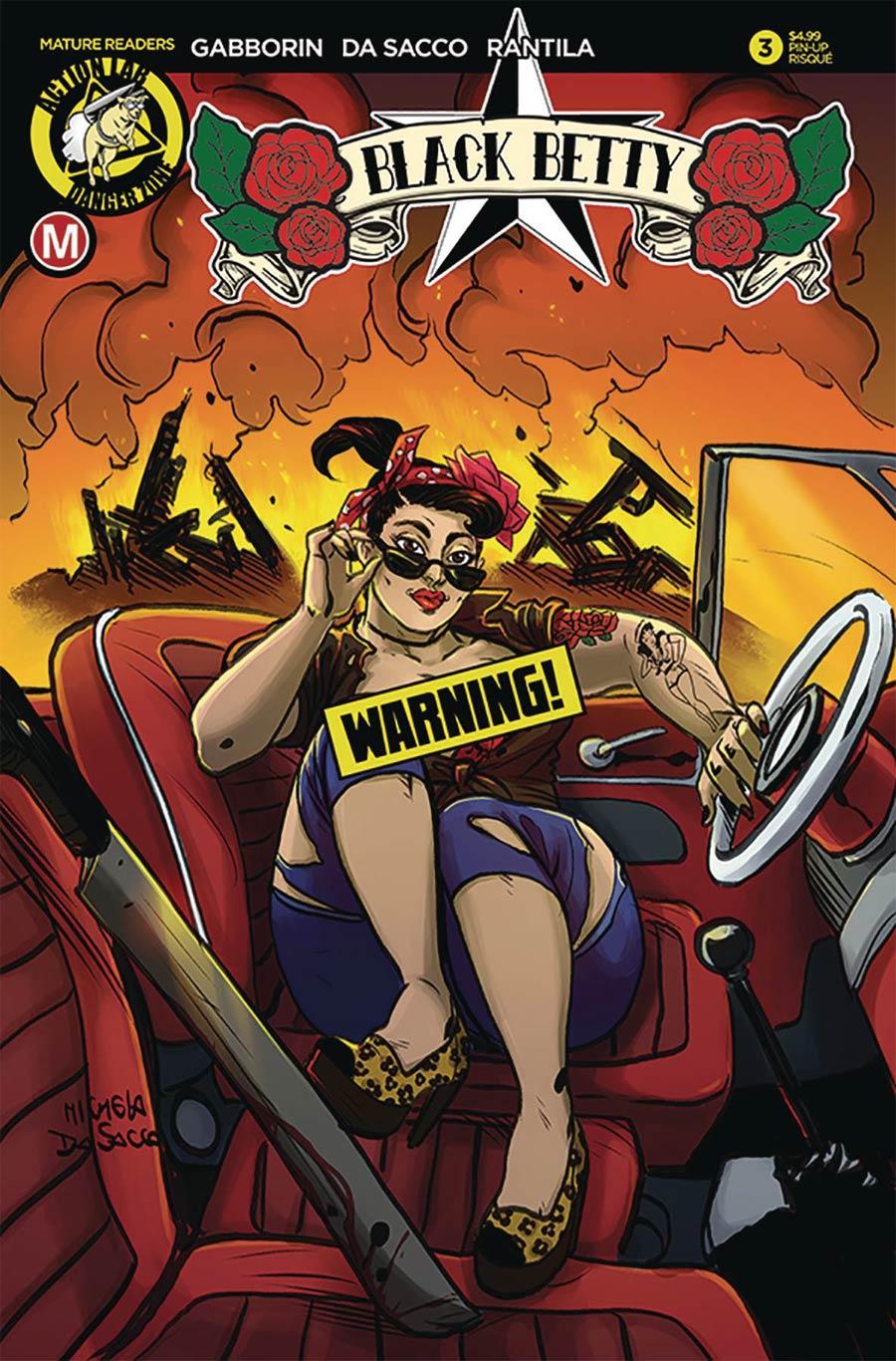 Black Betty #3 Cover B Variant Michela Da Sacco Risque Cover