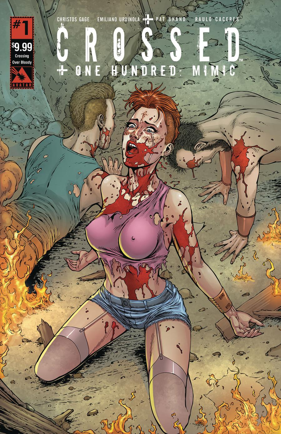 Crossed Plus 100 Mimic #1 Cover I Crossing Over Bloody Cover