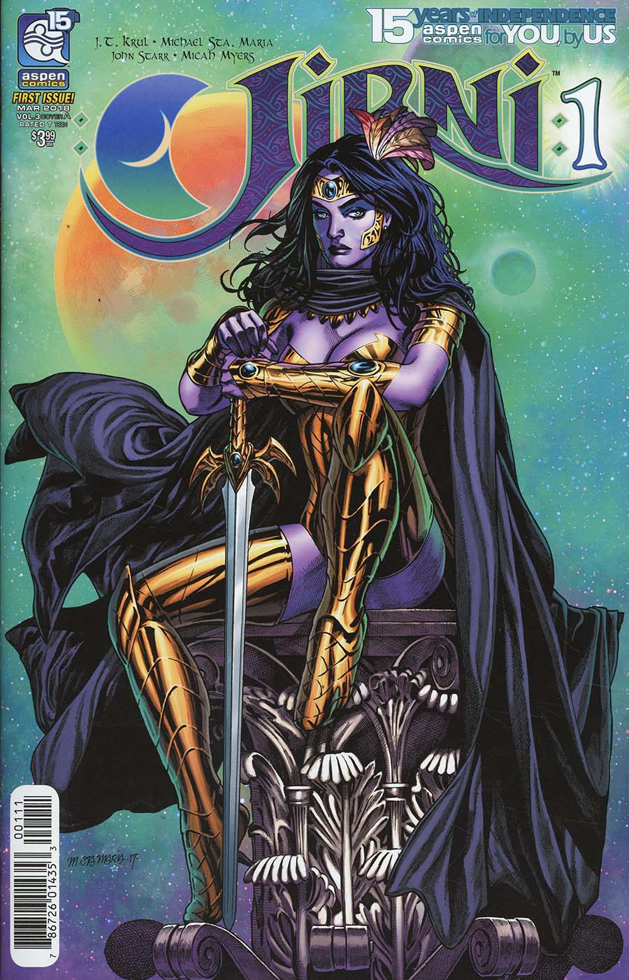 Jirni Vol 3 #1 Cover A Regular Michael Santamaria Cover