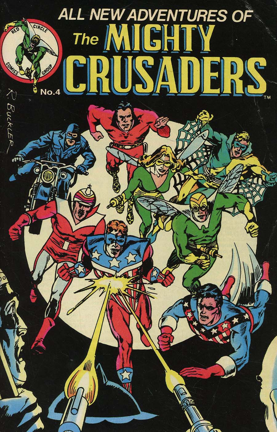 Mighty Crusaders Vol 4 #4 Cover B Variant Rich Buckler Red Circle Cover