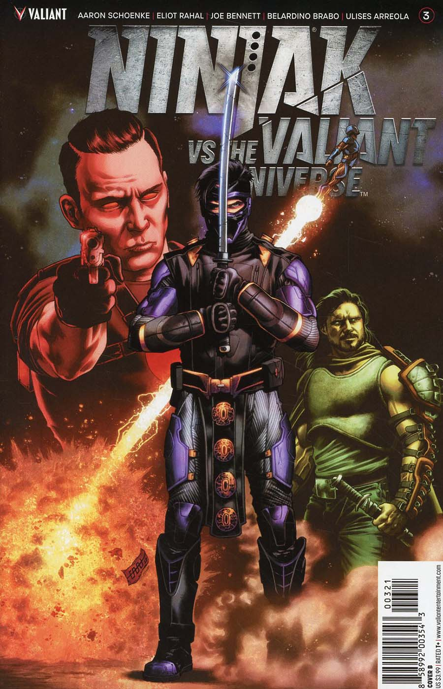 Ninjak vs The Valiant Universe #3 Cover B Variant CAFU Cover
