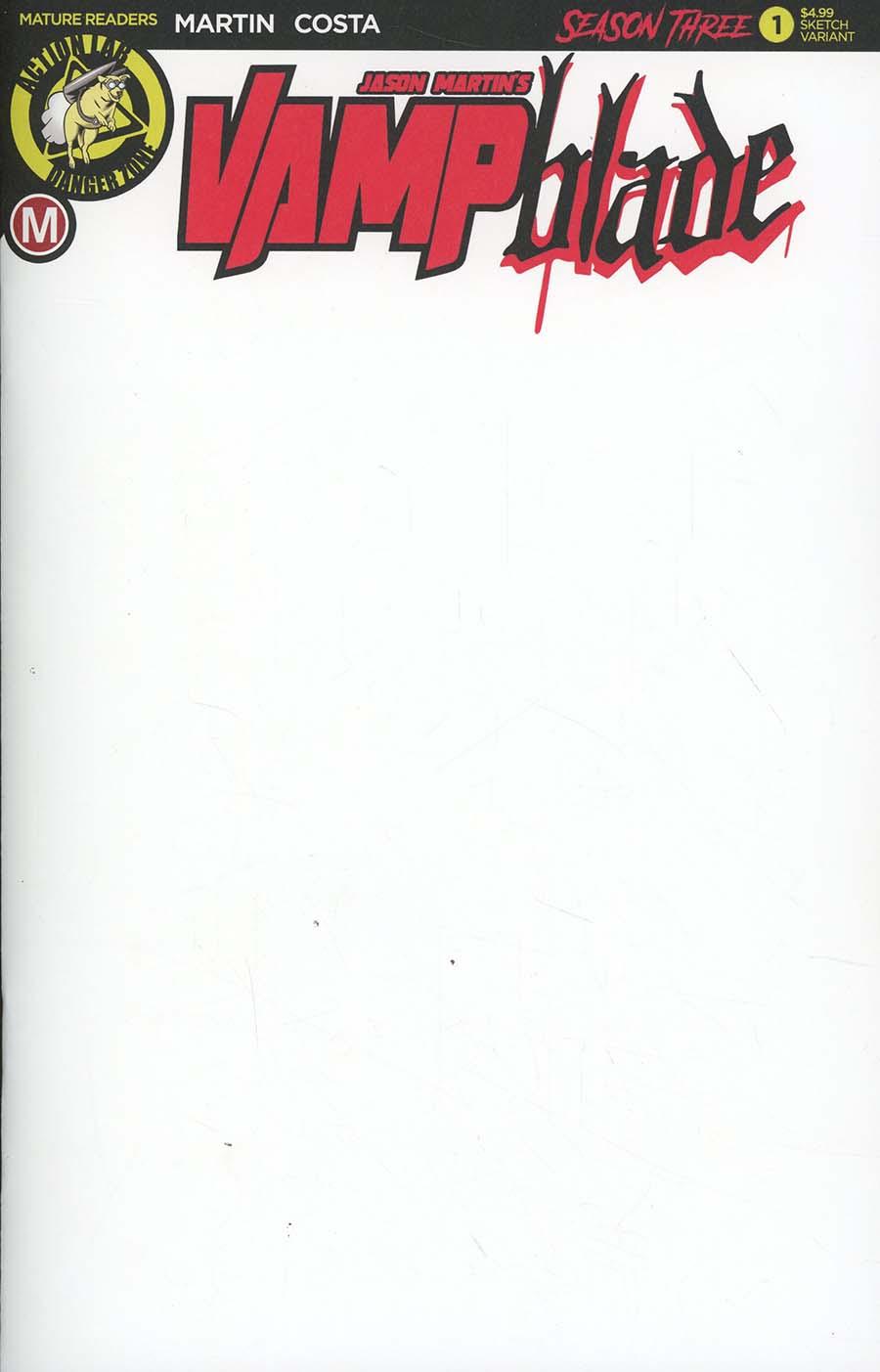 Vampblade Season 3 #1 Cover I Variant Blank Cover
