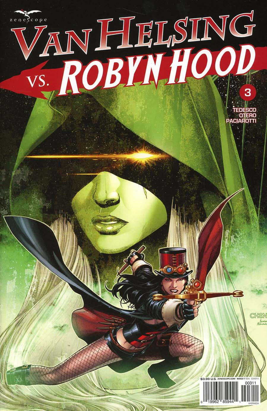 Grimm Fairy Tales Presents Van Helsing vs Robyn Hood #3 Cover A Sean Chen