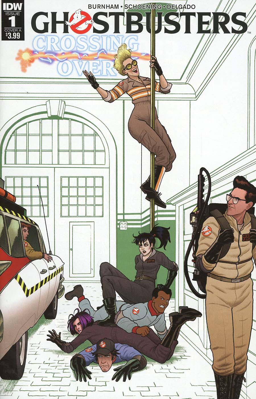 Ghostbusters Crossing Over #1 Cover A Regular Joe Quinones Cover