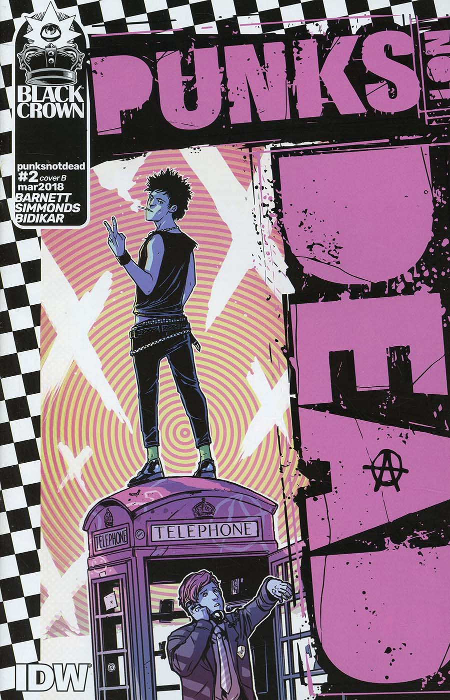 Punks Not Dead #2 Cover B Variant Caspar Wijngaard Cover