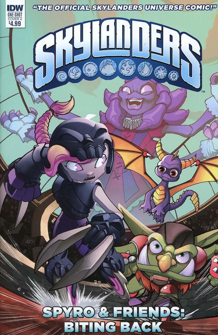 Skylanders Spyro & Friends Quarterly Biting Back Cover A Regular David Baldeon Cover
