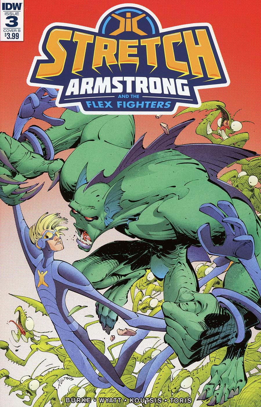 Stretch Armstrong And The Flex Fighters #3 Cover B Variant Nikos Koutsis Cover