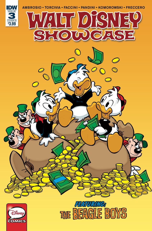 Walt Disney Showcase Vol 2 #3 Beagle Boys Cover B Variant Giorgio Cavazzano Cover