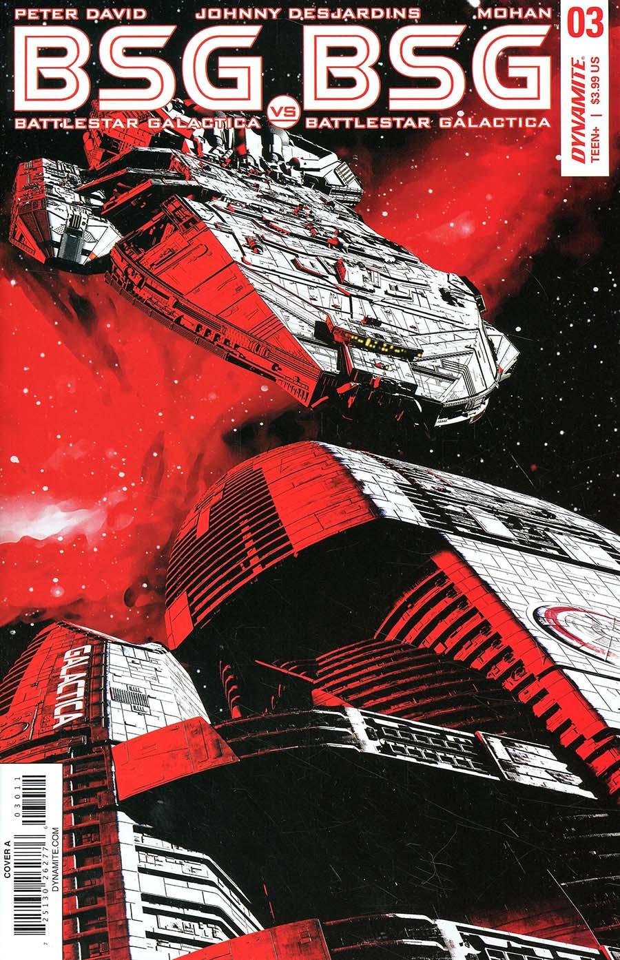 Battlestar Galactica vs Battlestar Galactica #3 Cover A Regular Adam Mojo Lebowitz Cover