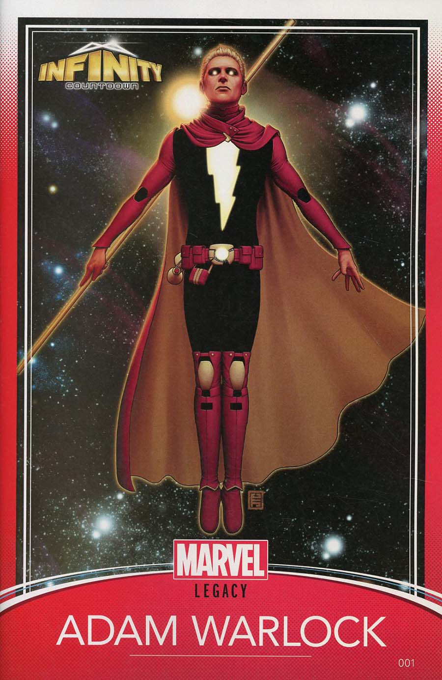 Infinity Countdown #1 Cover D Variant John Tyler Christopher Trading Card Cover (Marvel Legacy Tie-In)