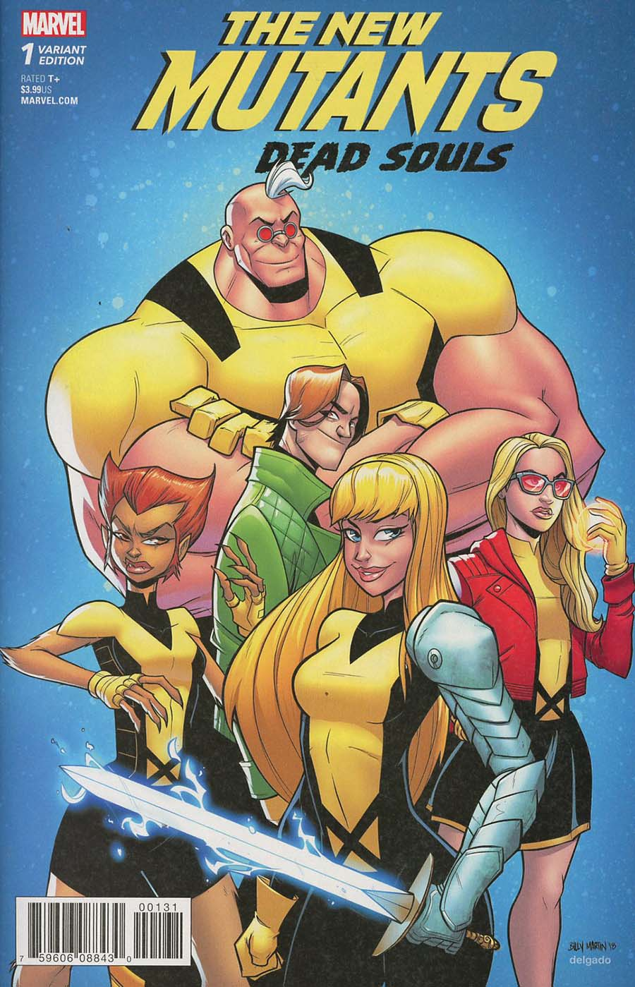 New Mutants Dead Souls #1 Cover C Variant Billy Martin Cover (Marvel Legacy Tie-In)