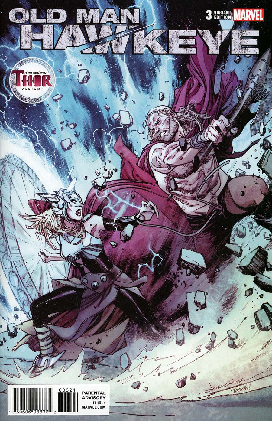 Old Man Hawkeye #3 Cover B Variant Olivier Coipel Mighty Thor Cover (Marvel Legacy Tie-In)