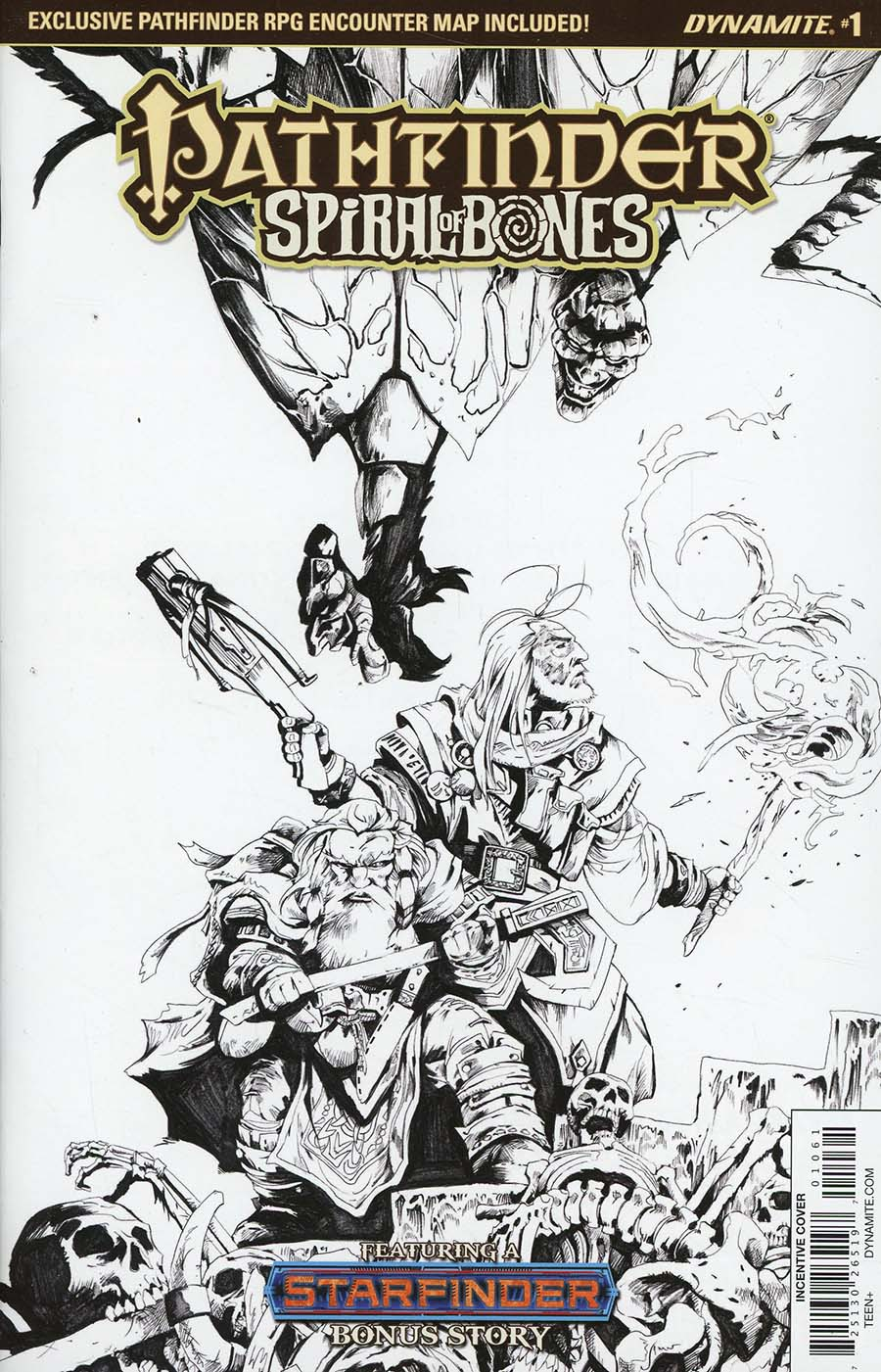 Pathfinder Spiral Of Bones #1 Cover F Incentive Jonathan Lau Black & White Cover