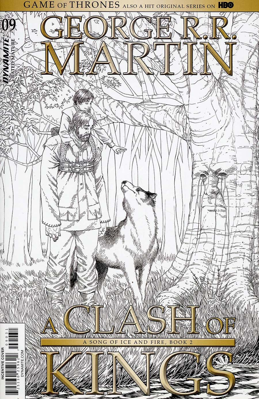 Game Of Thrones Clash Of Kings #9 Cover C Incentive Mike S Miller Black & White Cover