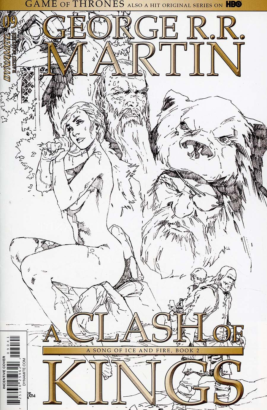 Game Of Thrones Clash Of Kings #9 Cover D Incentive Mel Rubi Black & White Cover