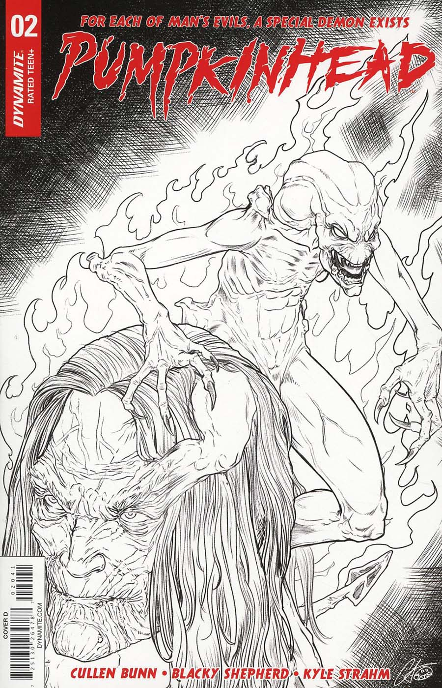 Pumpkinhead #2 Cover D Incentive Blacky Shepherd Black & White Cover