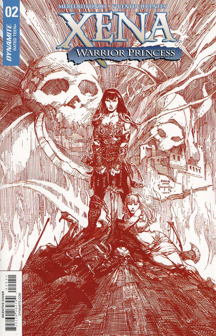 Xena Vol 2 #2 Cover E Incentive David Finch Red Cover