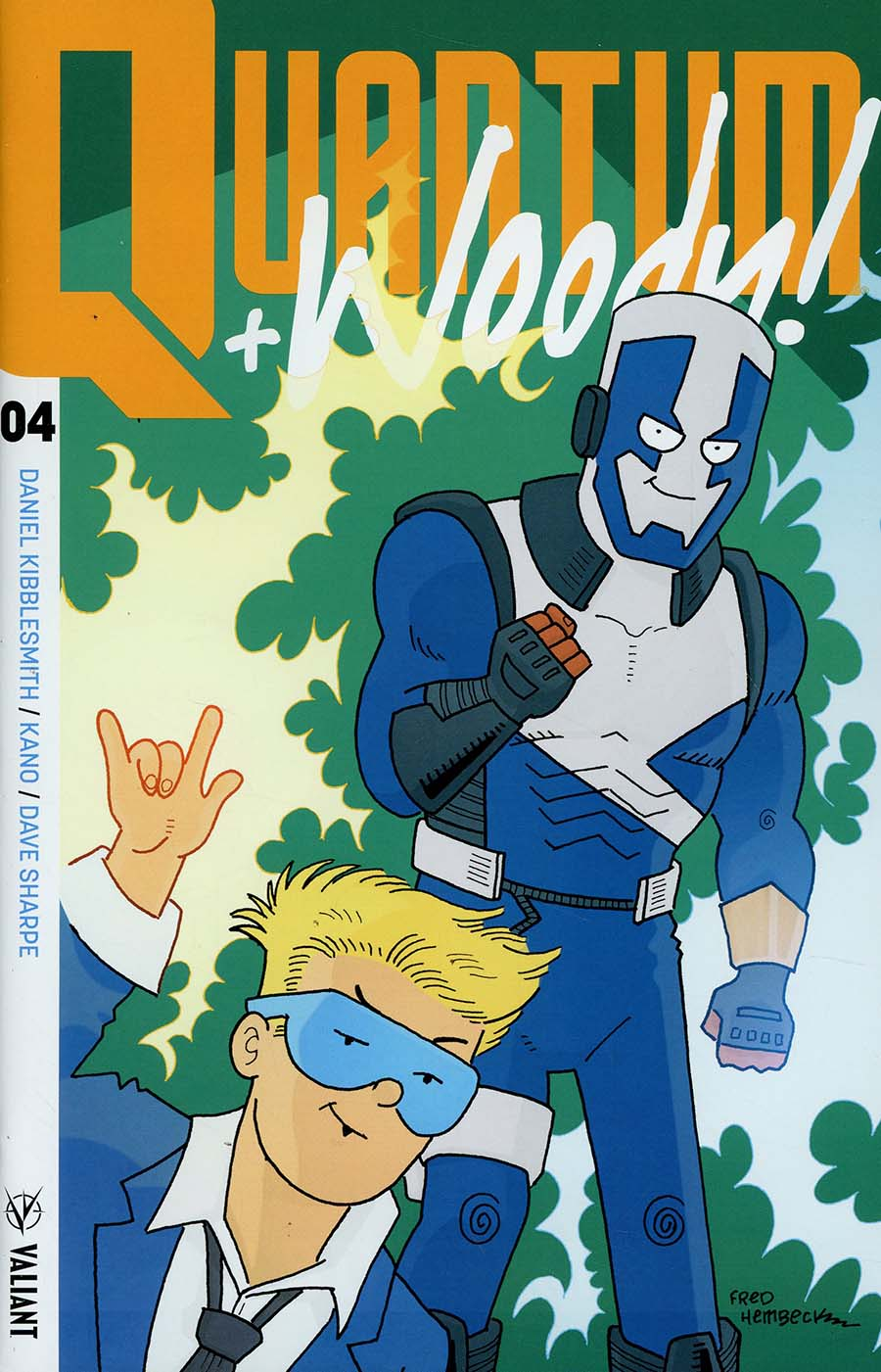 Quantum & Woody Vol 4 #4 Cover E Incentive Fred Hembeck Quantum & Woody Icon Variant Cover