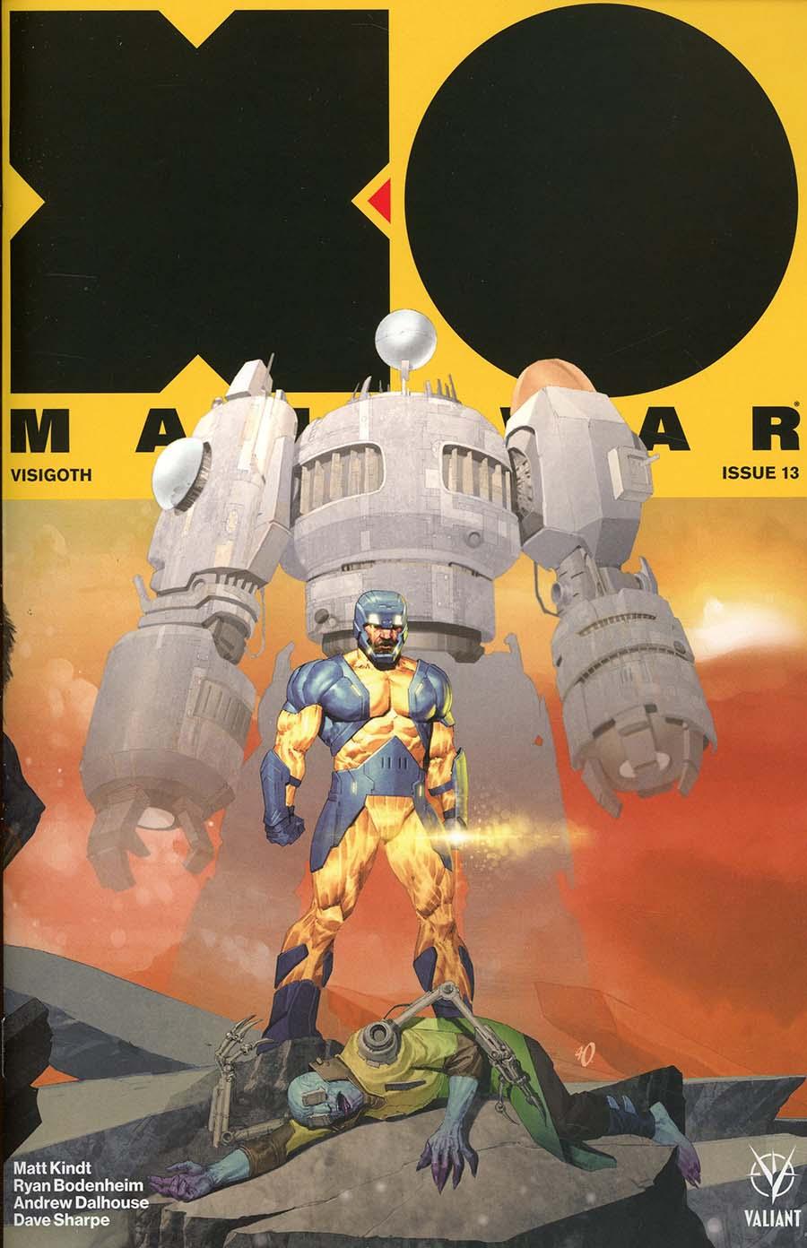 X-O Manowar Vol 4 #13 Cover D Incentive Ariel Olivetti Interlocking Variant Cover