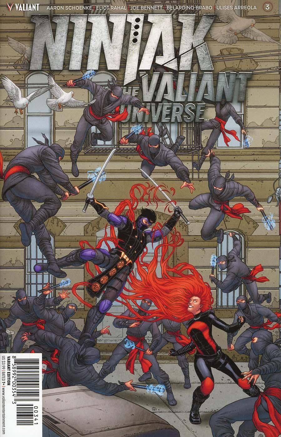 Ninjak vs The Valiant Universe #3 Cover D Incentive Francis Portela Interlocking Variant Cover