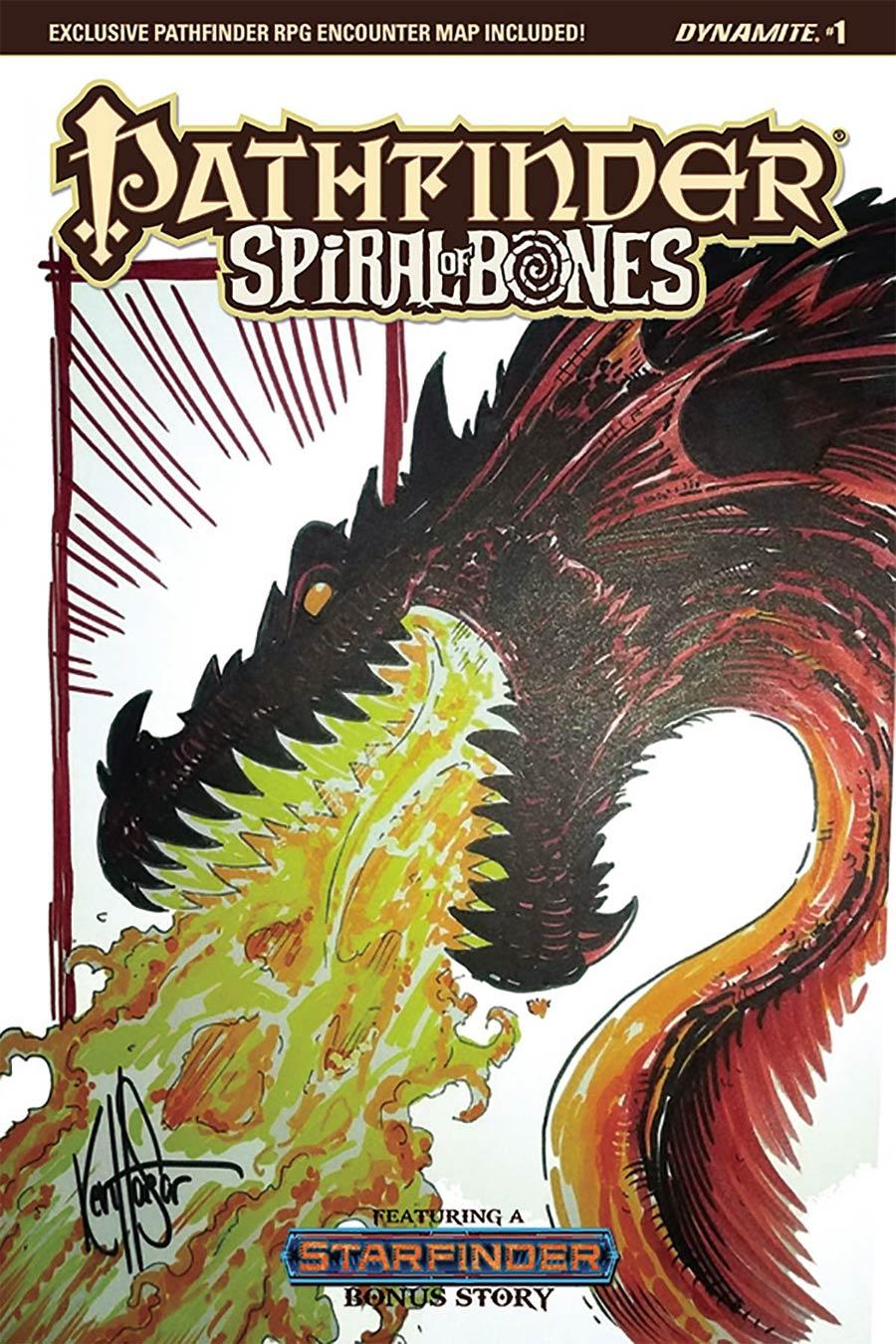 Pathfinder Spiral Of Bones #1 Cover H Ken Haeser Original Hand-Drawn Sketch Cover