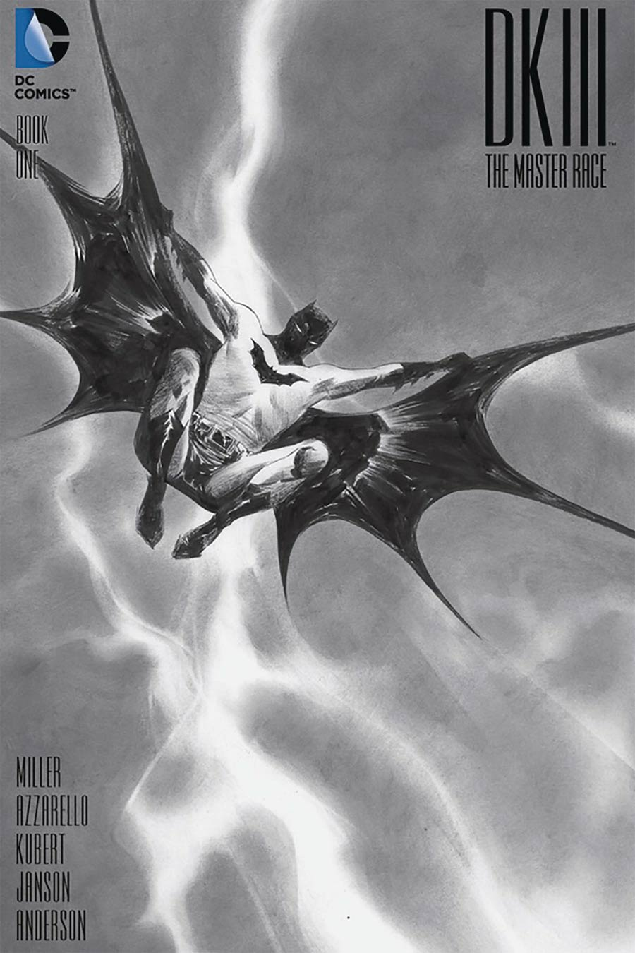 Dark Knight III The Master Race #1 Cover Z-Z-D DF Exclusive Homage Black & White Variant Cover Signed By Frank Miller